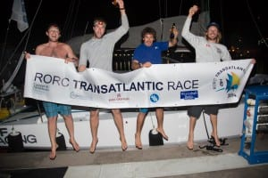Andrew O'Donnell, Dan Flanigan, Chris Kennedy, Hobie Ponting winning jump