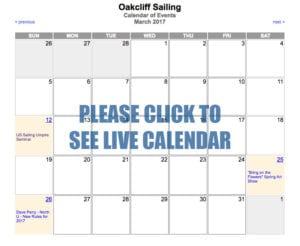 Oakcliff Sailing Calendar