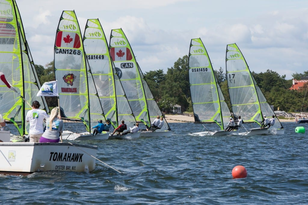 49ers start during Day 2 of the 2014 49er, 49er FX, and Nacra 17 US National Championship