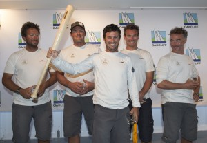 Team Morvan celebrates their win of the 2014 U.S.  Grand Slam Series